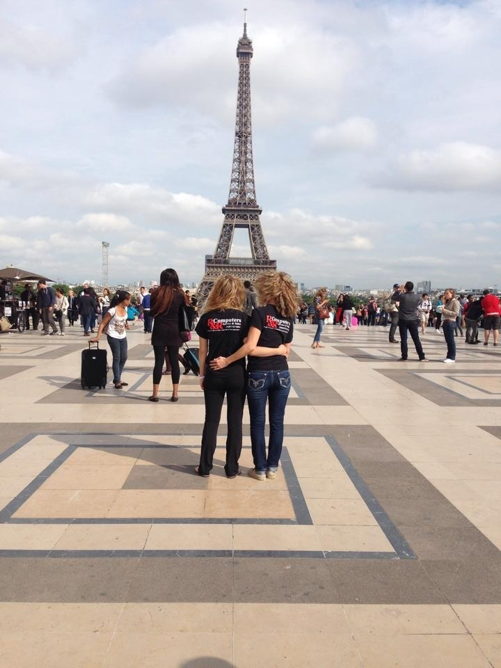 Sondra and Kristen in Paris