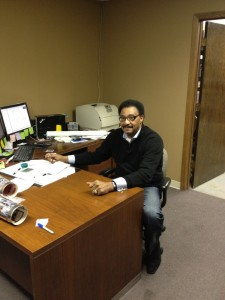 Mr. Chuck Foreman at the office
